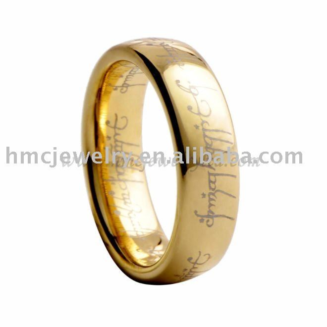 Lord Of The RingGold Tungsten RingGoldtungsten Jewellery Wedding Bands
