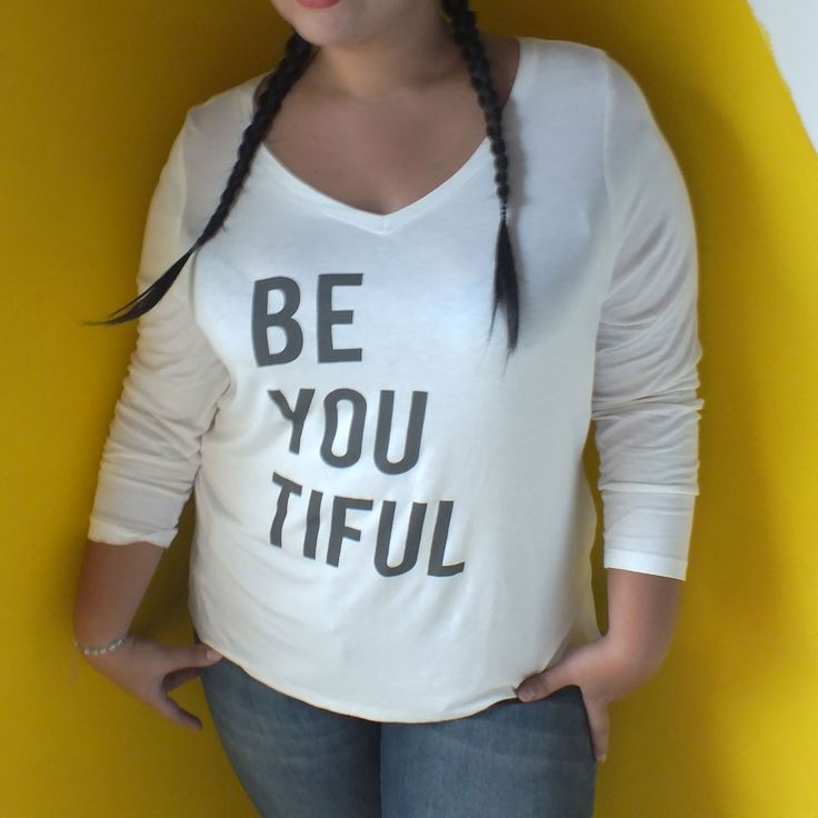 Moda tallas grandes: Camiseta BE YOU TIFUL. Plus size fashion: T-shirt BE YOU TIFUL #sizerevolution #plussize #tallasgrandes