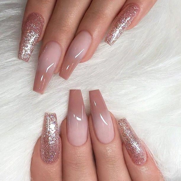 REPOST , , , , Caramel Ombre and Glitter on long Coffin