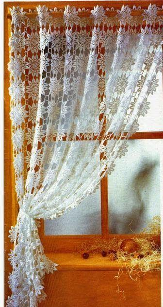 Savanas Tricô - Cortinas a crochet