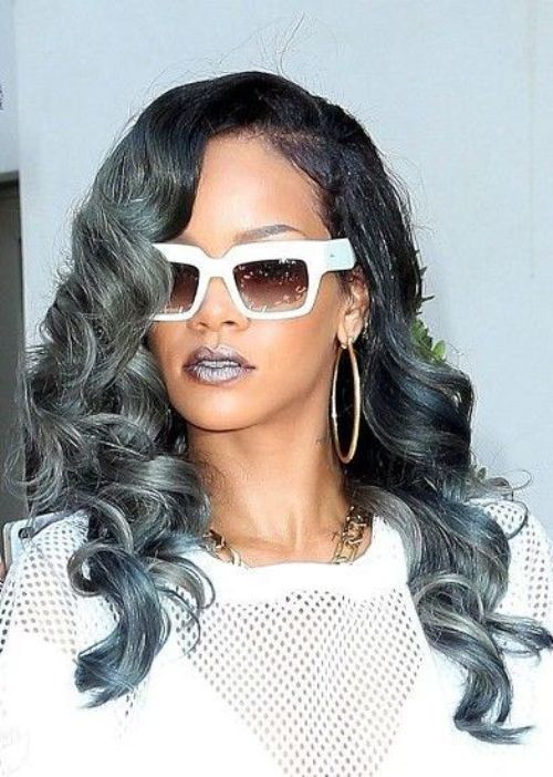 Rihanna inspired Steel Blue Ombre Grey by ...