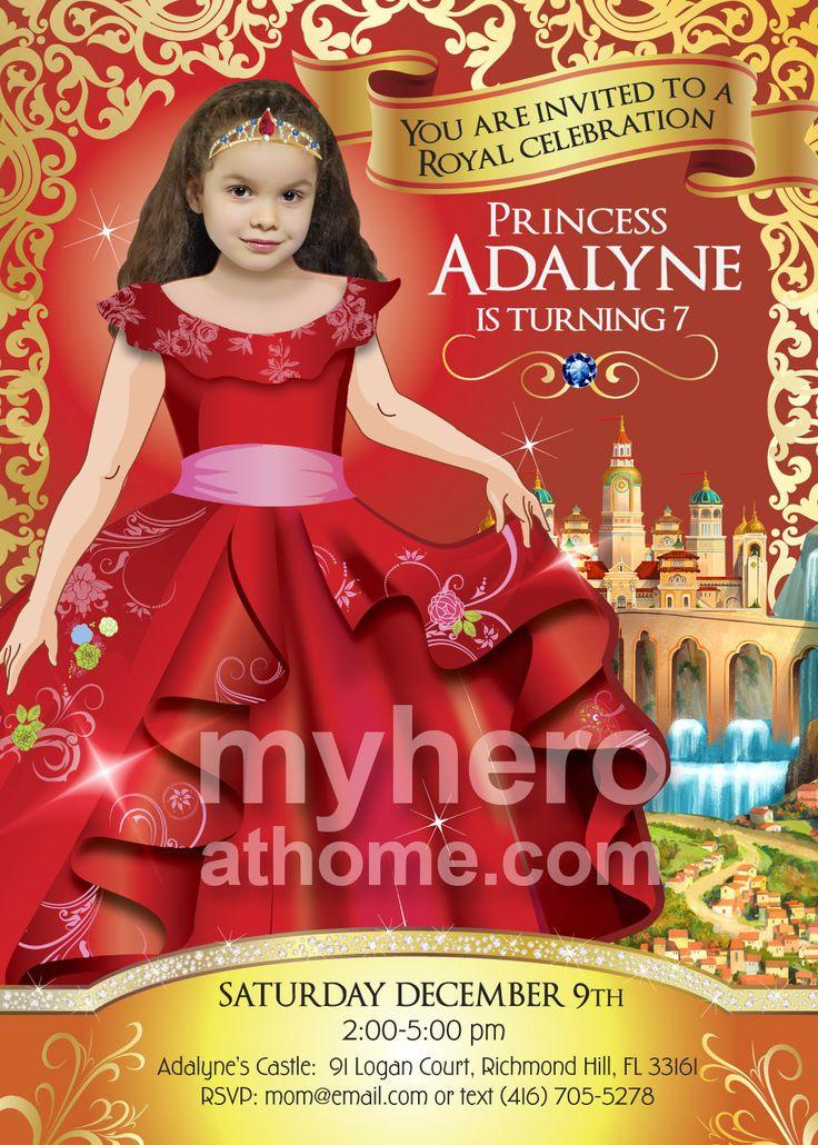 first birthday invitation for my son%0A Elena of Avalor Birthday Invitation  Elena of Avalor Birthday Party Ideas   Princess Elena Party