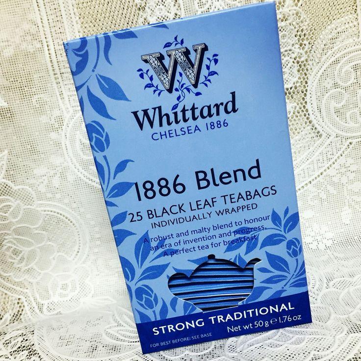 Whittard 1886 Blend。アッサムとキームンのブレンド。創業年をイメージしたもので、甘い香りが特徴。口あたりもまろやかで優しく、渋みもほぼなく後味スッキリ。Strongの表記にビビる必要な死。飲みやすいが、ブラックティーであることをちゃんと実感できる紅茶。