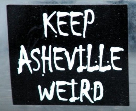 Keep asheville weird our very first sticker we printed it in 2004 and have