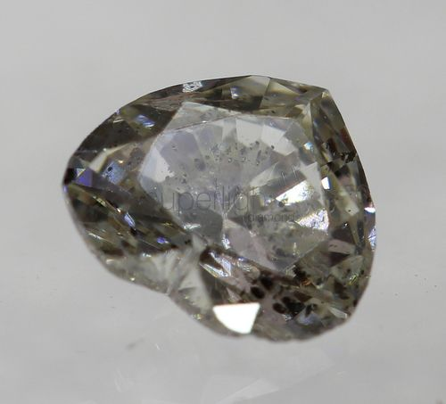 Certified 0.26 Carat J Color SI1 Heart Buy Loose Diamond For Ring 4.63x4.11mm