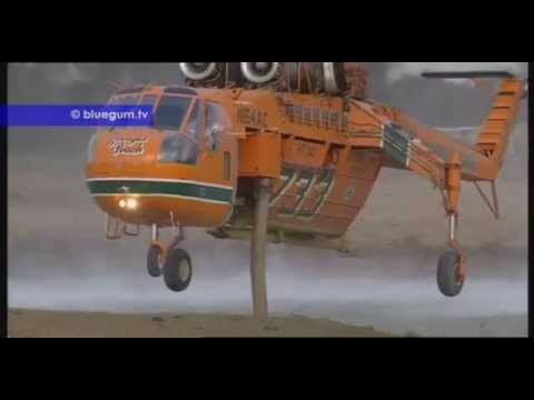 Helicopter Aerial Fire Attack - YouTube