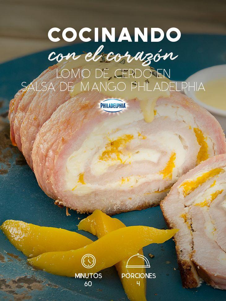 Este día sorprende a tu familia con un rico Lomo de cerdo en salsa de mango Philadelphia. #recetas #receta #quesophiladelphia #philadelphia #crema #quesocrema #queso #comida #antojo #lomodecerdo #carne #cerdo #salsa #mango