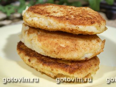 Картофельные котлеты с сыром. Фотография рецепта