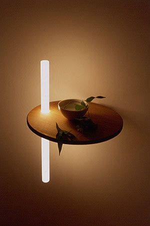Koizumi Studio.. lighting integrated into furniture. Not sure where the hardware…