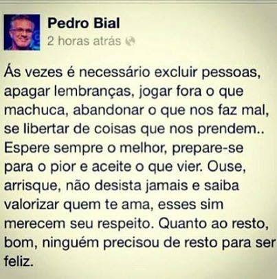 Pedro Bial sabe de tudo...