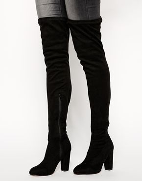 Enlarge ASOS KISS OF LIFE Over the Knee Ankle Boots