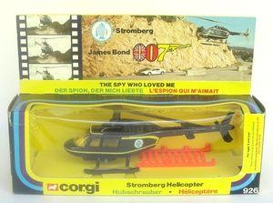 Corgi 926 James Bond Stromberg Helicopter from The Spy Who Loved Me