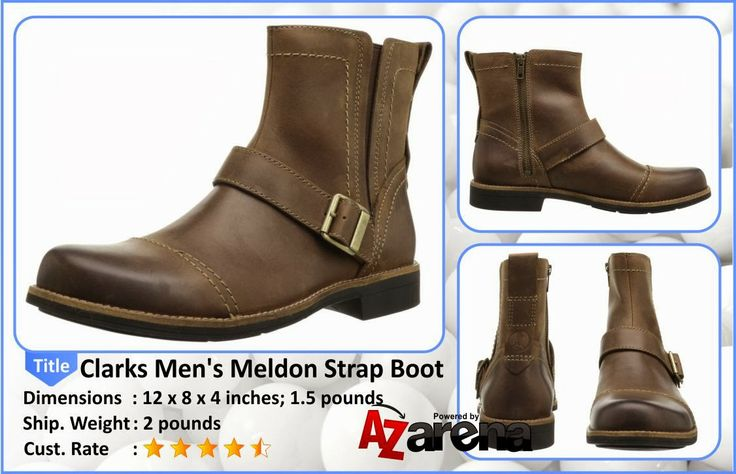 Clarks Men's Meldon Strap Boot | Provide your feet excellent protection with comfort and style, which the Meldon Strap offers with a rubber outsole for traction and durability. An overall rugged design with contrast stitching gives this boot the right amount of edge. Crafted from supple nubuck it features a fabric lining for reduced friction. A removable Ortholite