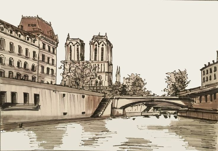 Day 29 Notre Dame as seen from the Seine (15/11/2015)