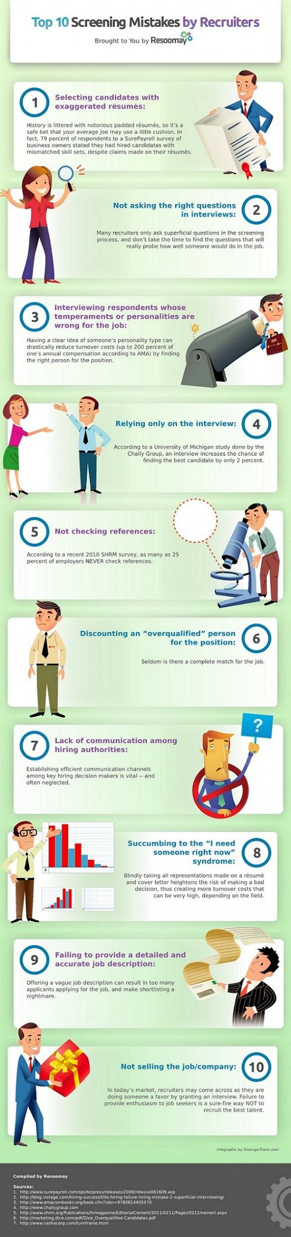 best images about recruiters job interviews infographics on the top ten screening mistakes by recruiters iexcli love you infographic