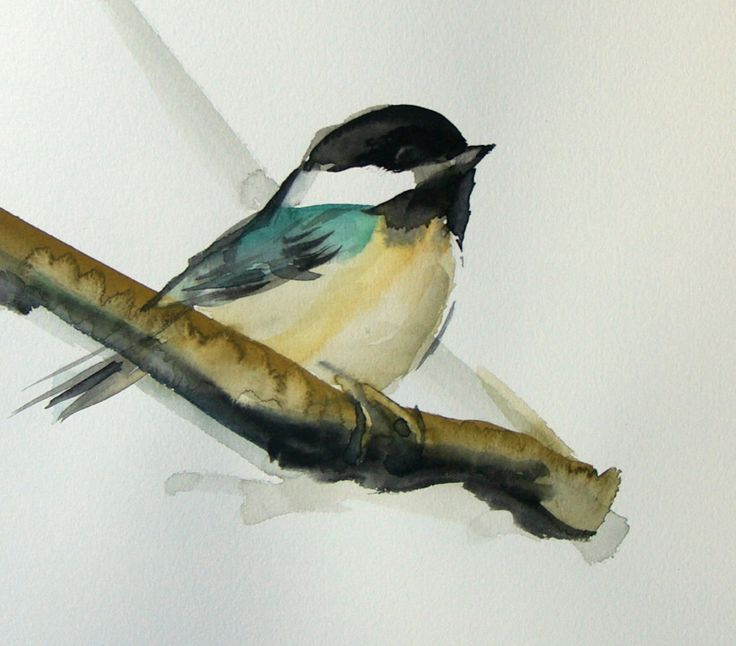 Bird paintings black and white - photo#25