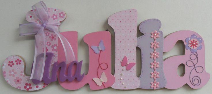 Laura Y Fede Letras Decorativas