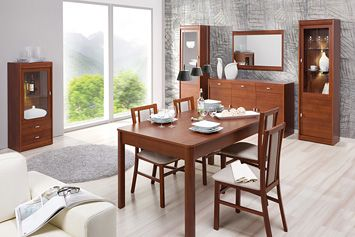 DOVER SZYNAKA Dining room  furniture set. Simple form of furniture. Body frames are massive and delicate at the same time. Polish Szynaka Modern Furniture Store in London, United Kingdom #furniture #polish #szynaka #diningroom