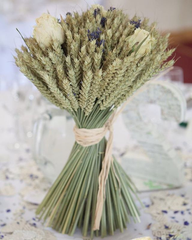 A creative twist on wedding table centerpieces. Love the simpicity and #rusticcharm of the dried #wheatgrass bound together.  . . . . . . #fridayflowers #bridalflowers #tablecenterpiece #summer #alternativeflowers #summerwedding #weddingcenterpieces #flowerdecor #weddingstyling #weddingflowers #countrywedding #rusticwedding #weddingphotographer #naturalweddingphotography #documentaryweddingphotography #documentarywedding #finesrtphotography #weddingpictures #devonphotographer  #modernbride…