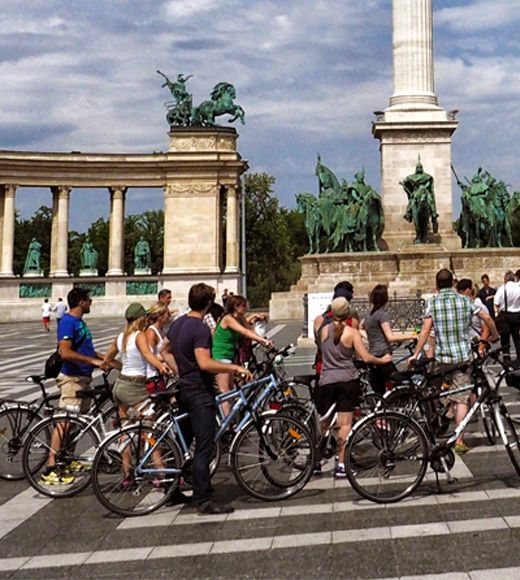 Fietsen in Boedapest, vakantie, travel