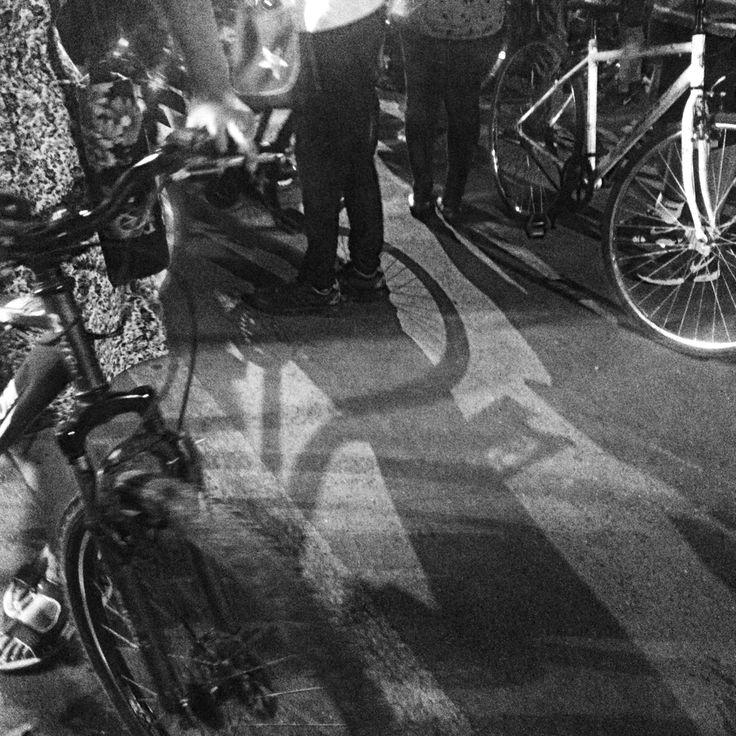 Midnight bicycle ride in Mumbai, India