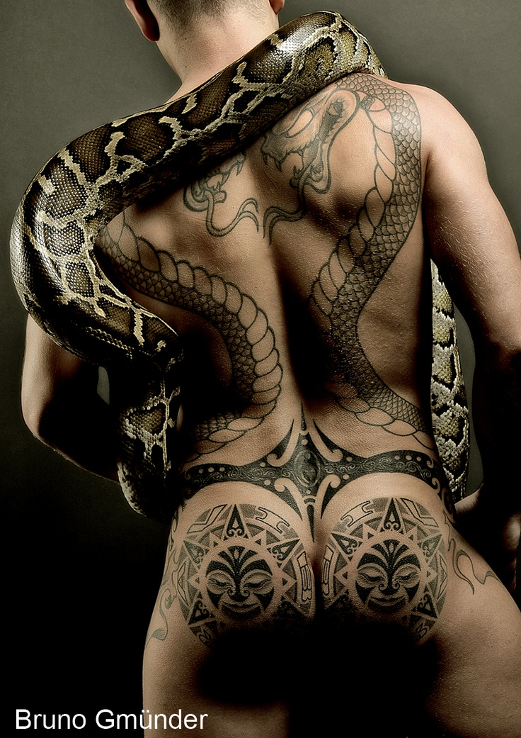 sexy men with snakes