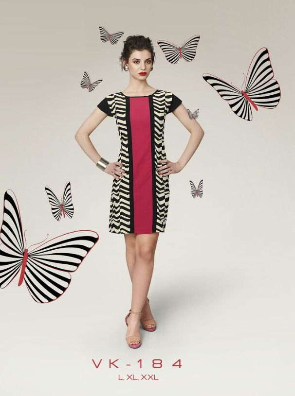 Red and Black Georgette Printed Designer Office Wear Kurti