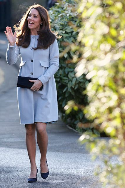 Catherine, Duchess of Cambridge arrives to attend a coffee morning at Family Friends in Kensington on January 19, 2015 in London