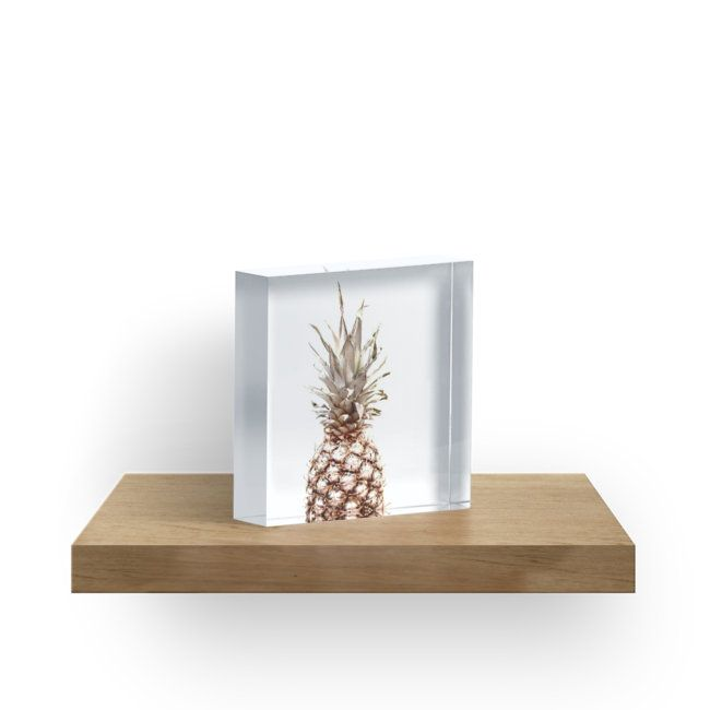 'Pineapple' Acrylic Block by ARTbyJWP from Redbubble #acrylicblocks #walldeco #pineapple #homedecor #minimal  --     Pineapple isolated on white background. • Also buy this artwork on phone cases, apparel, stickers, and more.