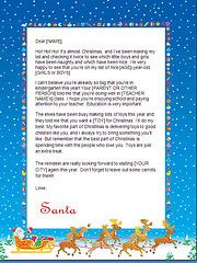 #Santa letters to print - sleigh _ #Letters from Santa