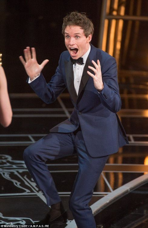 His expression when receiving Oscar at 2015 was priceless. ❤