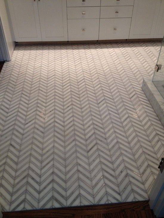 76 best herringbone chevron floor wall tiles images on for Small bathroom herringbone tile