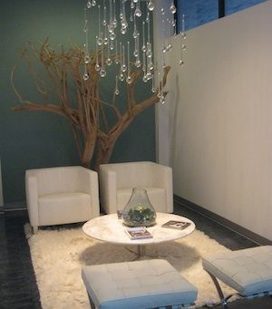 love this waiting room!  Especially the light fixture and the chairs, nice and compact if you have a small area