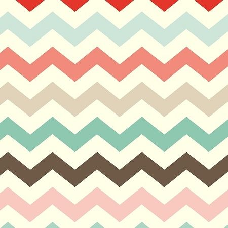 Adorn It - Nested Owls - Vintage Chevron in Coral multi