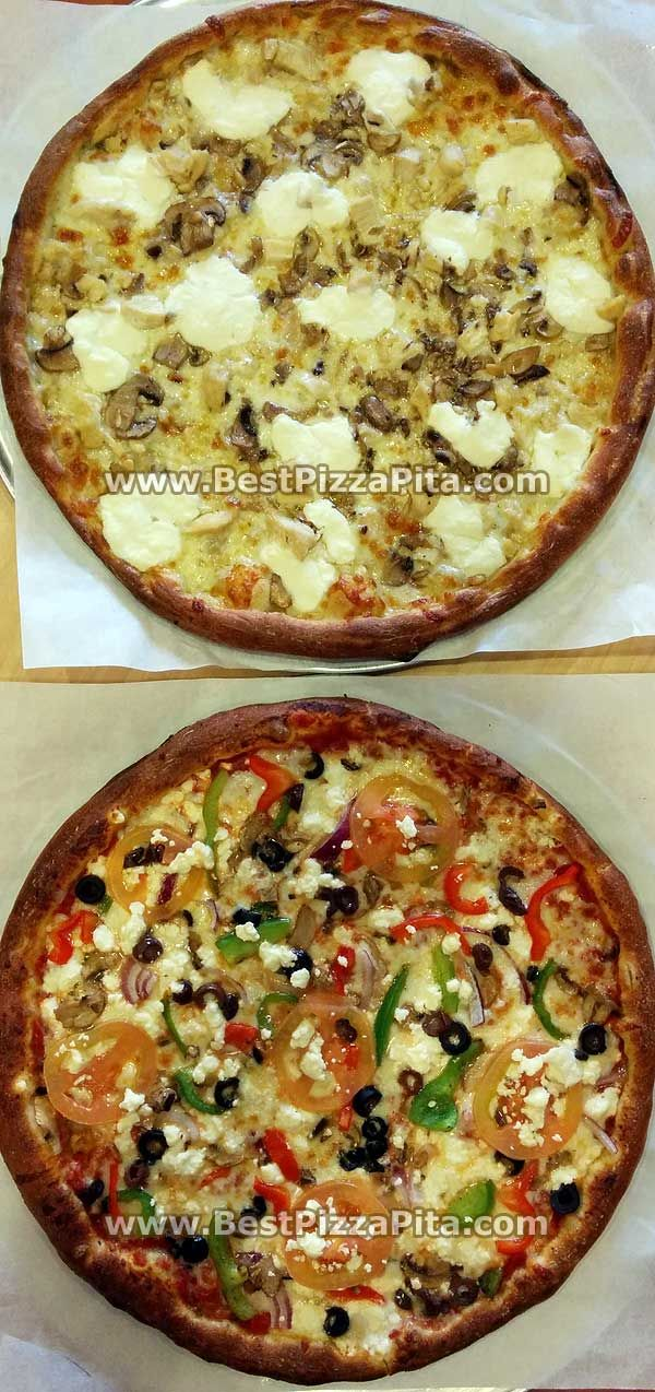 Two Great pizza for the #Valentine's day.   From one of my favorite #Pizza #Pita #Restaurant in #Gilbert #Arizona - #Gluten Free!