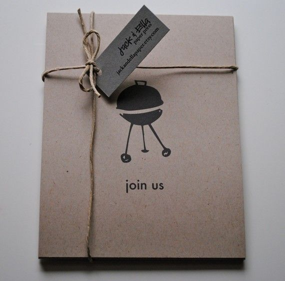 Perfect invite for a backyard BBQ or 4th of July bash? Simply said. Love it!
