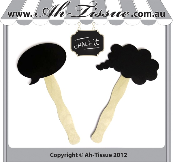Photo booth chalkboard props for kids parties