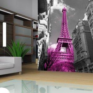 Fototapeta z różową wieżą eiffela