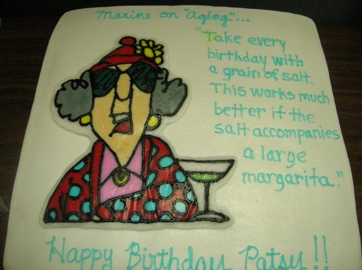Maxine Birthday Cake Frozen Buttercream Transfer My