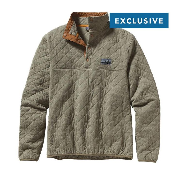 Patagonia Diamond Quilt Snap-T\u00AE Pullover - Fatigue Green FTGN