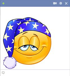Smiley with sleeping cap