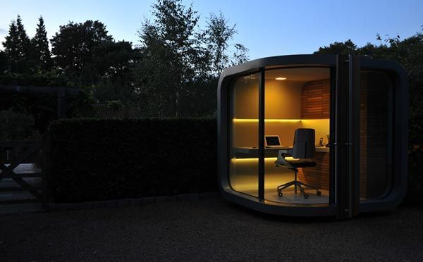 :~prefab home officeOffices Design, Offices Spaces, Backyards Offices, Corner Offices, Offices Pods, Small Home, Outdoor Area, Offices Nooks, Home Offices