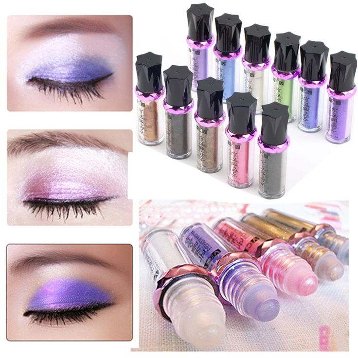 11 Colors/lot Diamond Bright Colorful Fluorescence Shine Gloss Mineral Eyeshadow Powder Pencil Eye Shadow Ball Eyeshadow Powder