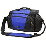 Evecase Extra Large DSLR Camera Nylon Case/Bag with Strap - Black/Blue for Canon EOS SL1, T5i, T5, T4i, T3, T3i, T2i, T1i, XSi, XTi, XS, 70D, 60D, 60Da, 7D Mark II, 7D, 6D, 5D, 5D Mark III/Mark II, 50D, 40D - http://camera-bags.us/articles/evecase-extra-large-dslr-camera-nylon-casebag-with-strap-blackblue-for-canon-eos-sl1-t5i-t5-t4i-t3-t3i-t2i-t1i-xsi-xti-xs-70d-60d-60da-7d-mark-ii-7d-6d-5d-5d-mark-iiimark-ii-50/
