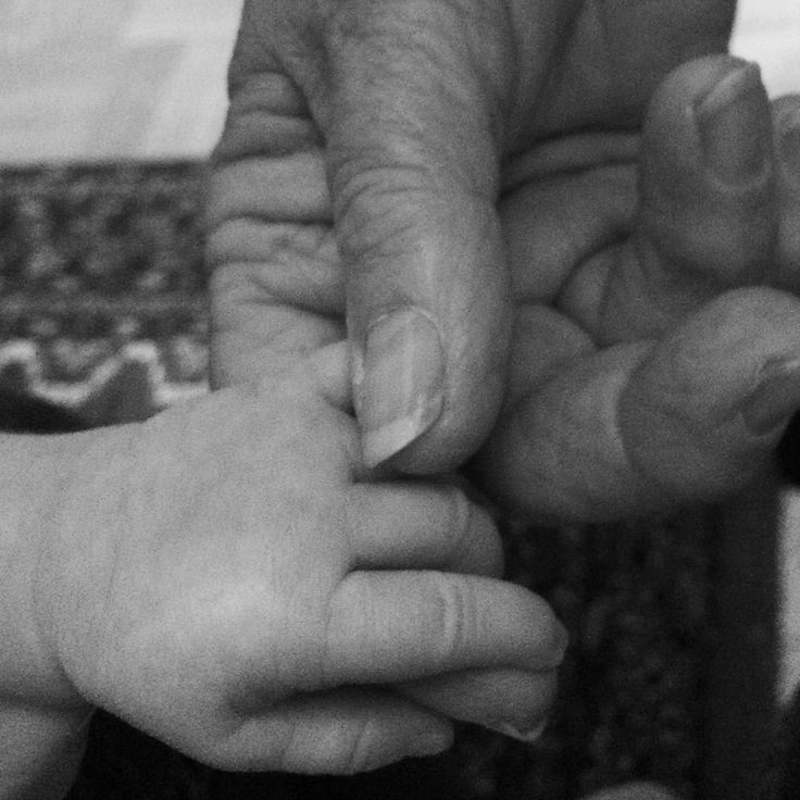 Farmor och barnbarnsbarn