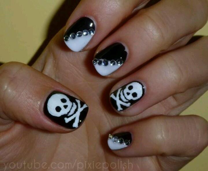 10 best skull and cross bone nails images on Pinterest | Skull nails ...