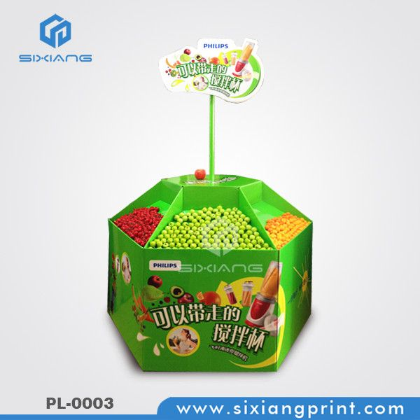 PL-0003 Supermarket Custom Cardboard Pallet Display Rack For Bottles