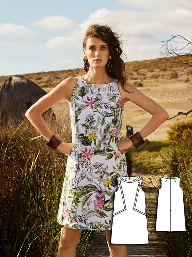 womens dress sewing pattern 109-062016-B