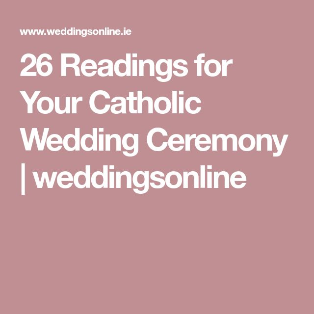 Catholic Wedding Readings