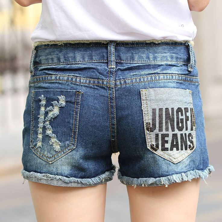 2017 Hollow Out Ripped Hole Denim Shorts